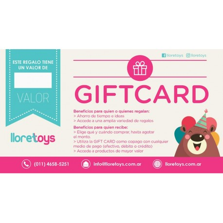 Tarjeta de Regalo Gift Card