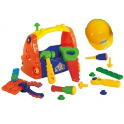 Caja de herramientas con casco Calesita 461