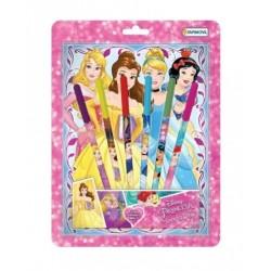 Set Princesas Anotador Fibras con Aroma y Brillo