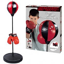 Puchingball Boxeo con pie y guantes